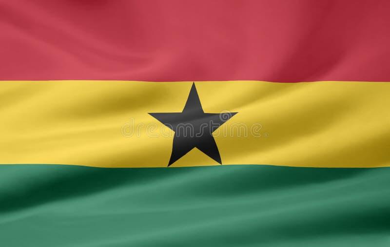 флаг Гана иллюстрация штока