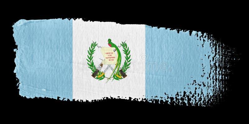 флаг Гватемала brushstroke бесплатная иллюстрация