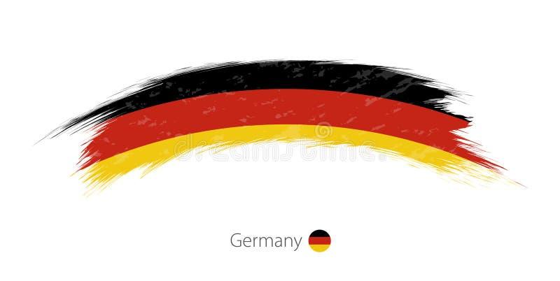 Флаг Германии в округленном ходе щетки grunge иллюстрация штока
