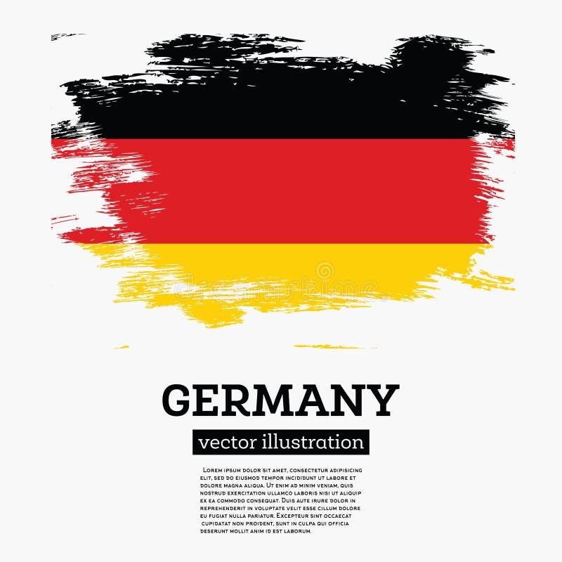 Флаг Германии с ходами щетки иллюстрация штока