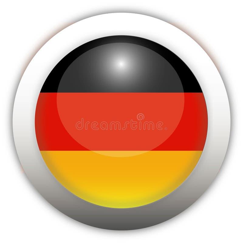 флаг Германия кнопки aqua иллюстрация штока