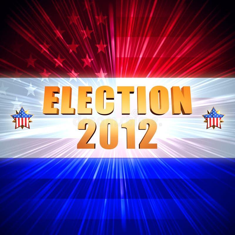 Флаг года 2012 избрания светя американский, звезды иллюстрация вектора