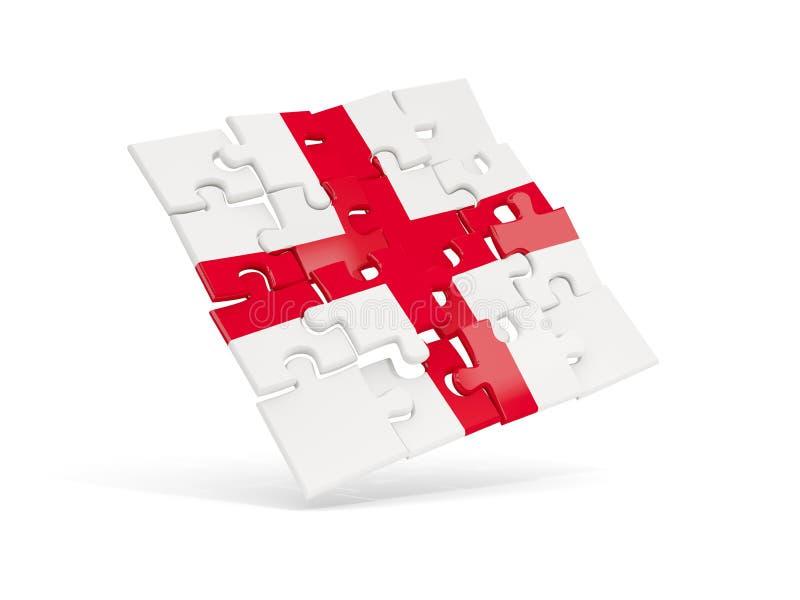 Флаг головоломки Англии изолировал на белизне иллюстрация штока