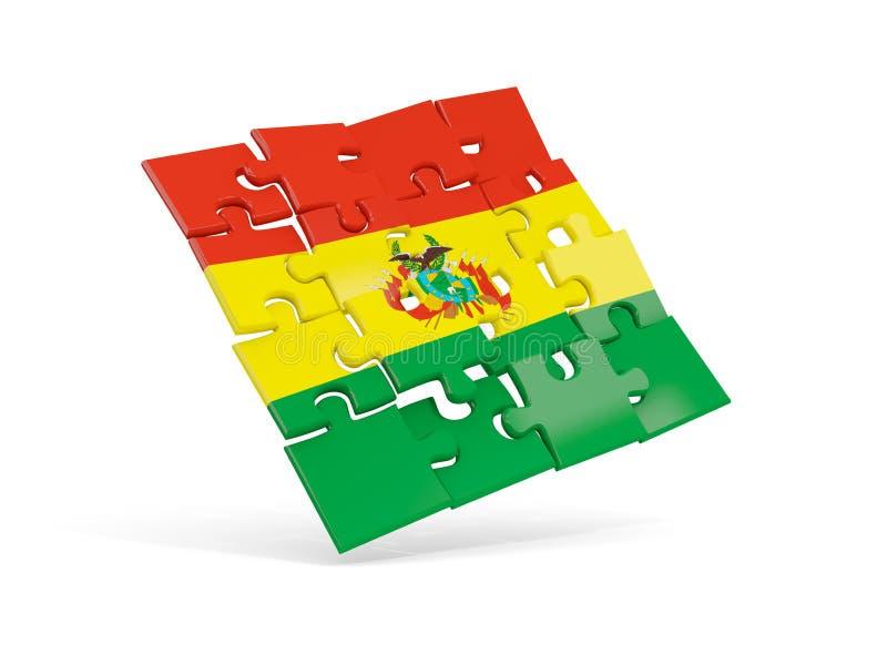 Флаг головоломки Боливии изолировал на белизне бесплатная иллюстрация