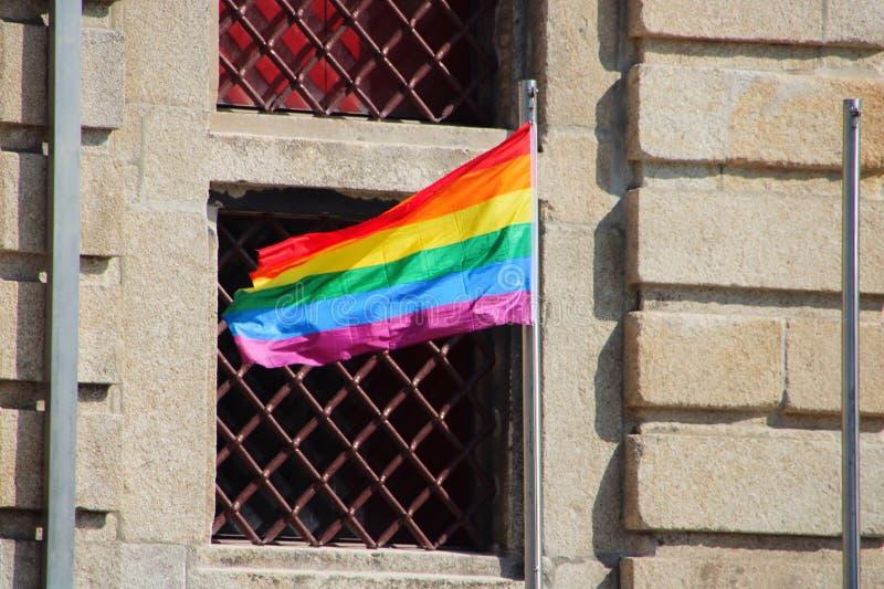 Флаг гордости LGBT стоковая фотография rf
