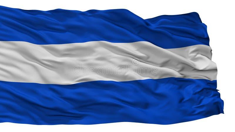 Флаг города плана Альмело, Нидерланды, изолированные на белой предпосылке иллюстрация штока