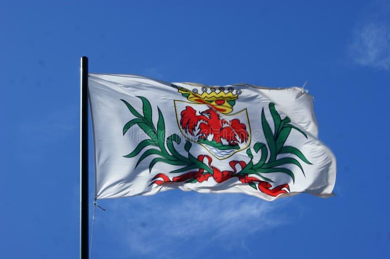 Флаг города славного летания стоковая фотография rf
