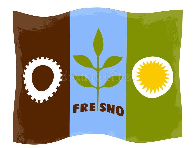 Флаг города Фресно иллюстрация вектора