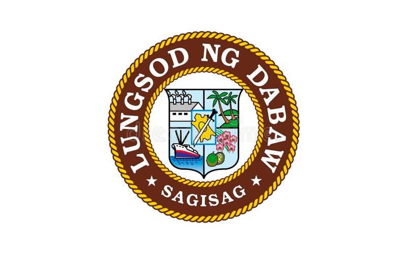 Флаг города Davao, Филиппин иллюстрация вектора
