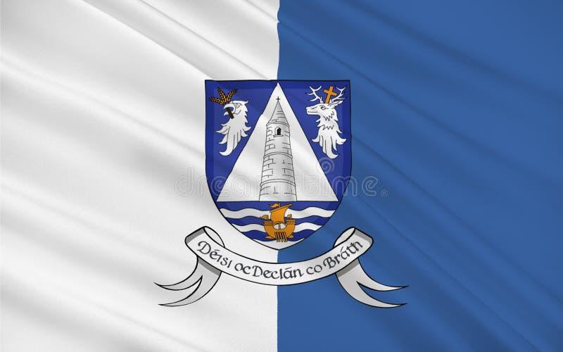 Флаг графства Уотерфорда графство в Ирландии иллюстрация вектора