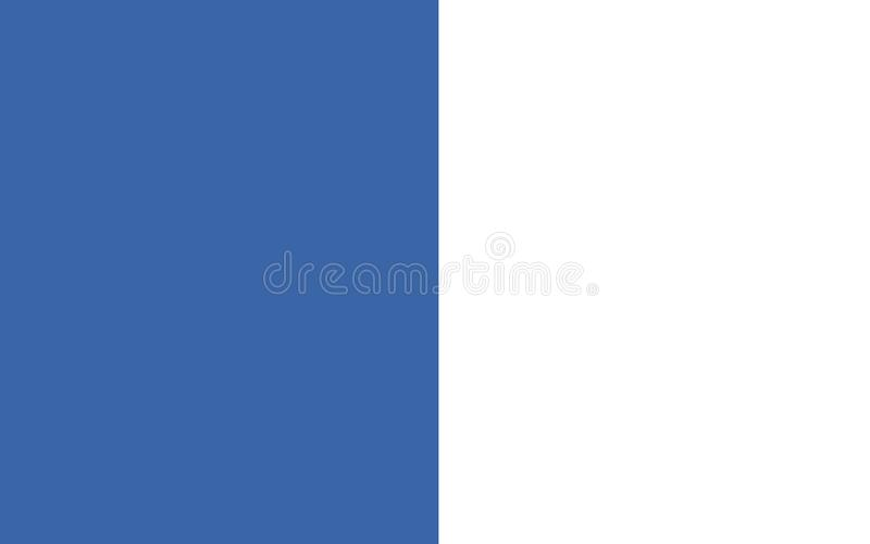 Флаг графства Уотерфорда графство в Ирландии иллюстрация штока
