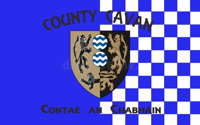 Флаг графства Cavan графство в Ирландии иллюстрация вектора