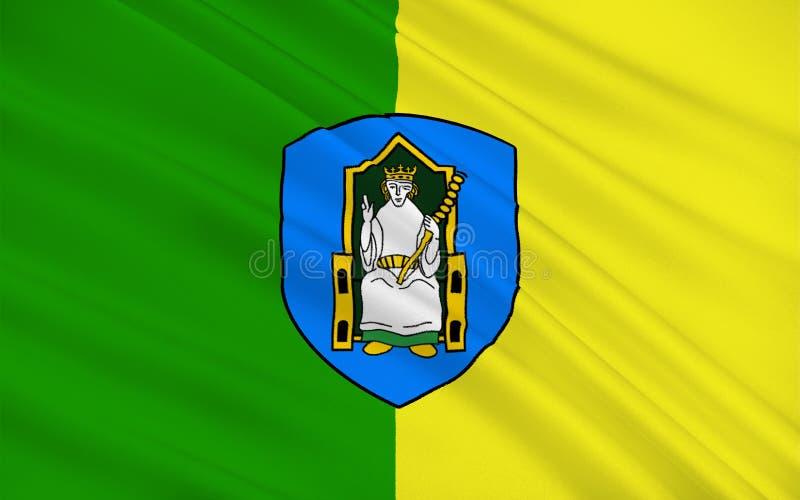 Флаг графства Meath графство в Ирландии иллюстрация вектора