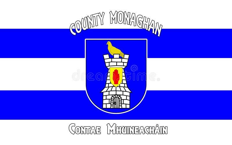 Флаг графства Monaghan графство в Ирландии бесплатная иллюстрация
