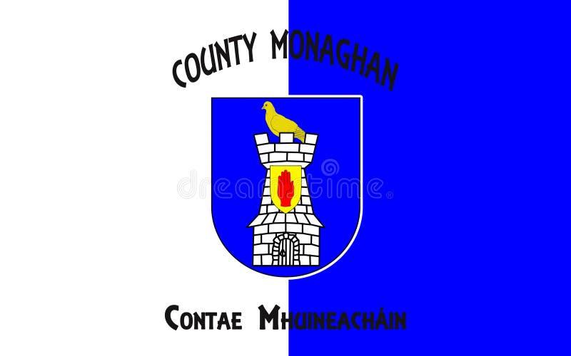 Флаг графства Monaghan графство в Ирландии иллюстрация штока