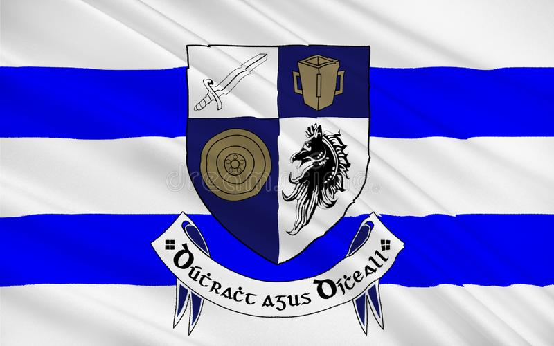 Флаг графства Monaghan графство в Ирландии стоковые изображения