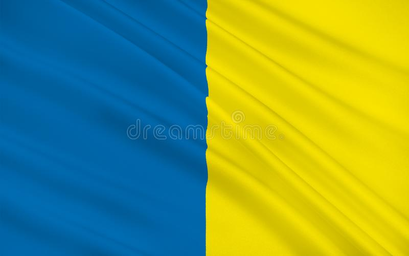Флаг графства Roscommon графство в Ирландии иллюстрация штока