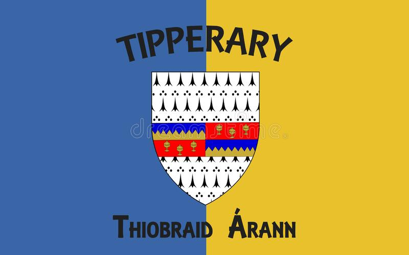 Флаг графства Tipperary графство в Ирландии иллюстрация штока