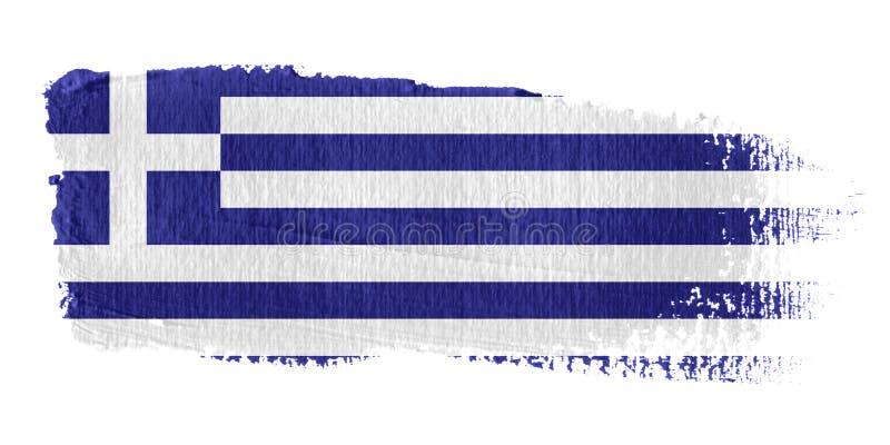 флаг Греция brushstroke бесплатная иллюстрация