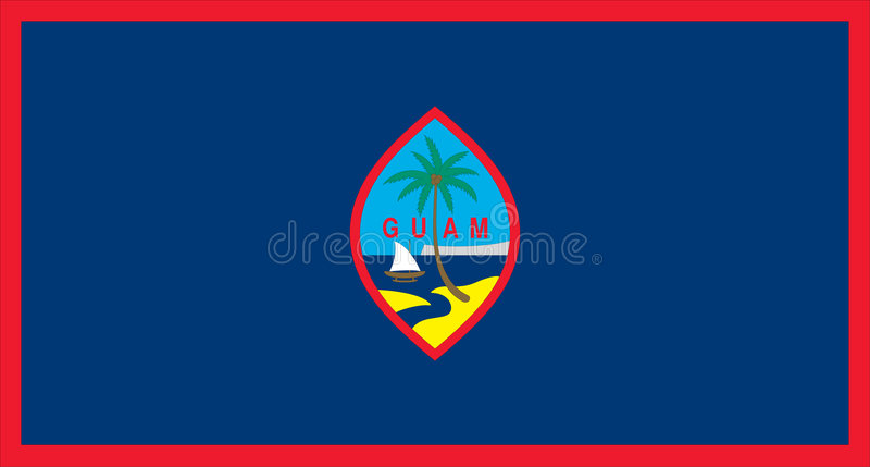 флаг Гуам иллюстрация вектора