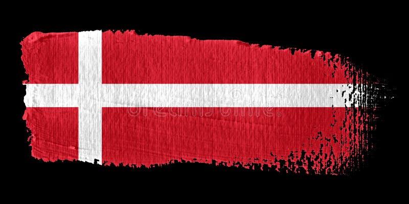 флаг Дании brushstroke бесплатная иллюстрация