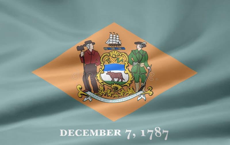 флаг Делавера иллюстрация штока