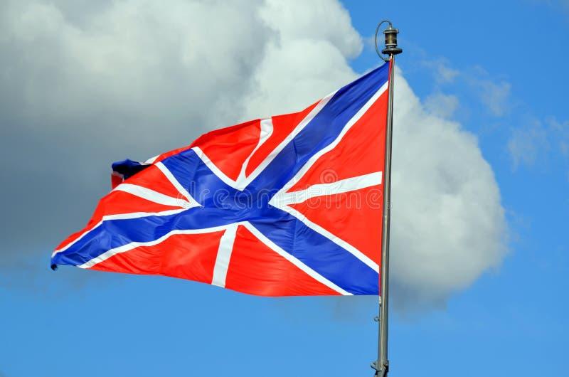Флаг Джека военноморской и флаг крепости стоковые изображения rf