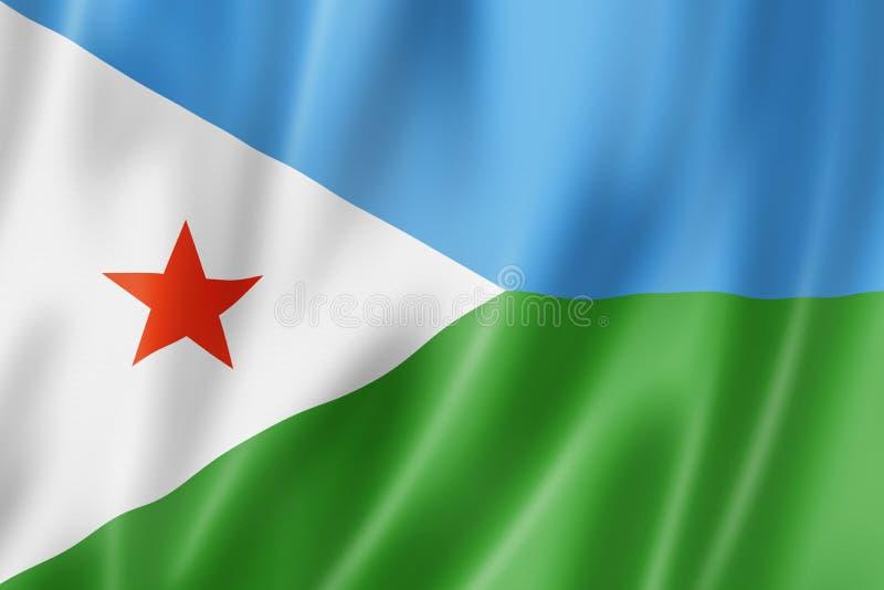Флаг Джибути бесплатная иллюстрация