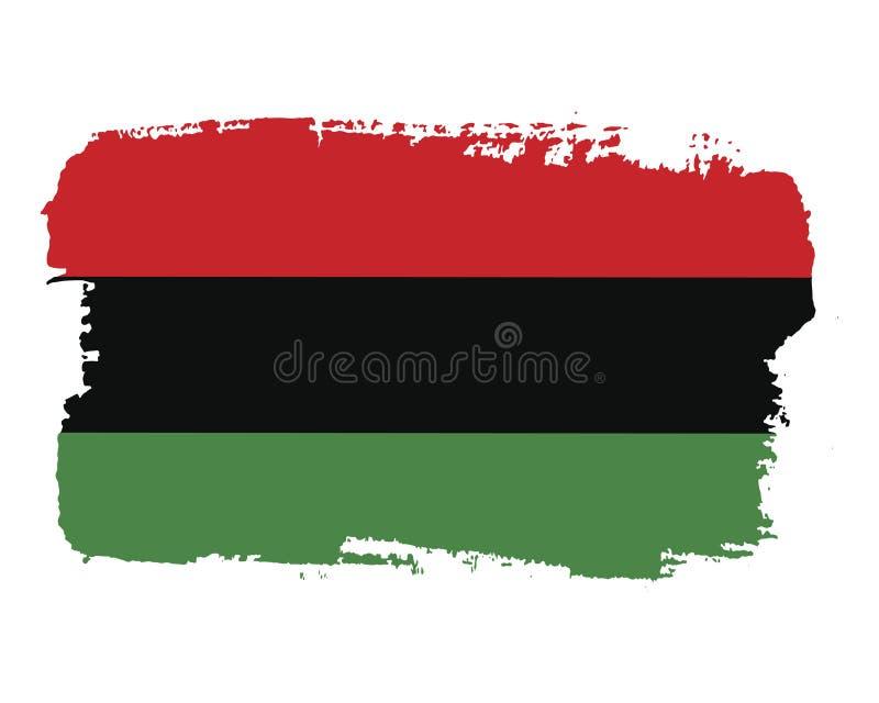 Флаг дня свободы Juneteenth притяжки руки иллюстрация вектора