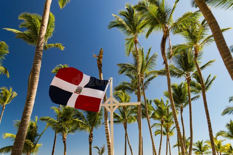 Флаг Доминиканской Республики порхая в ветре стоковые фото