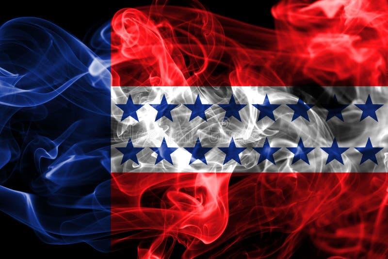Флаг дыма архипелага Tuamotu, группы в составе острова в французское поли иллюстрация штока