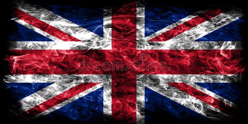 Флаг дыма Великобритании, флаг Юниона Джек иллюстрация вектора
