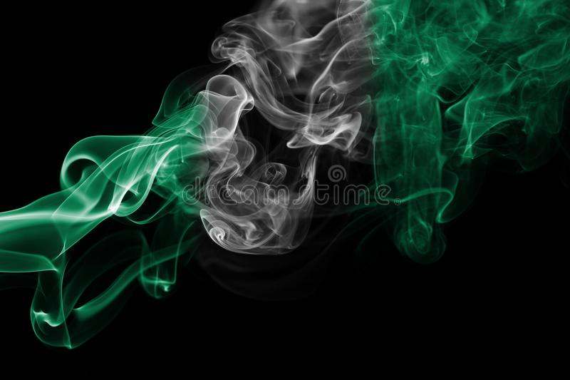 Флаг дыма Нигерии стоковое фото