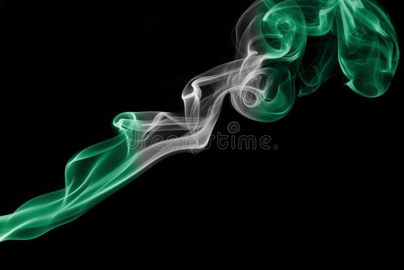 Флаг дыма Нигерии стоковое изображение