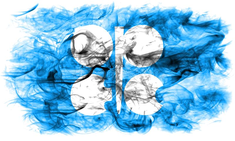 Флаг дыма ОПЕК, организация нефти экспортируя Countri иллюстрация штока