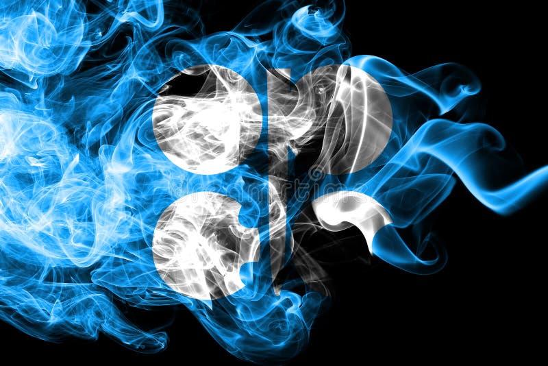 Флаг дыма ОПЕК, организация страна-экспортеров нефти иллюстрация вектора