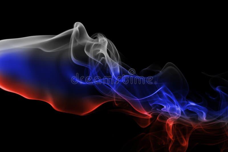 Флаг дыма России национальный стоковое фото