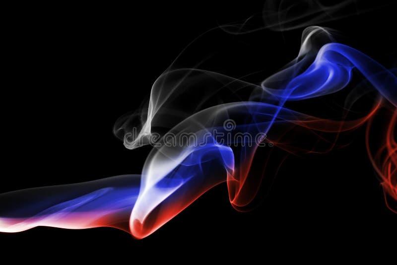 Флаг дыма России национальный стоковые фотографии rf