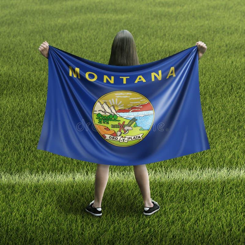 Флаг женщин и Монтаны иллюстрация вектора