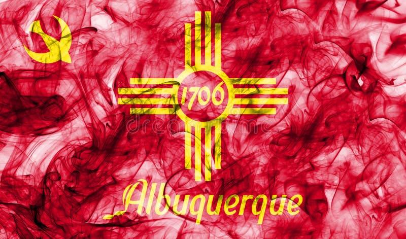 Флаг задымления городов Альбукерке, положение Неш-Мексико, Соединенные Штаты  иллюстрация вектора