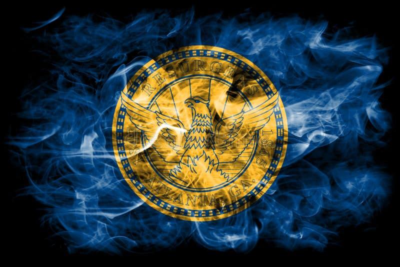 Флаг задымления городов Атланты, положение Georgia, Соединенные Штаты Америки стоковое изображение rf