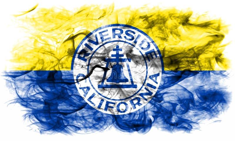 Флаг задымления городов берега реки, положение Калифорнии, Соединенные Штаты Am стоковое фото