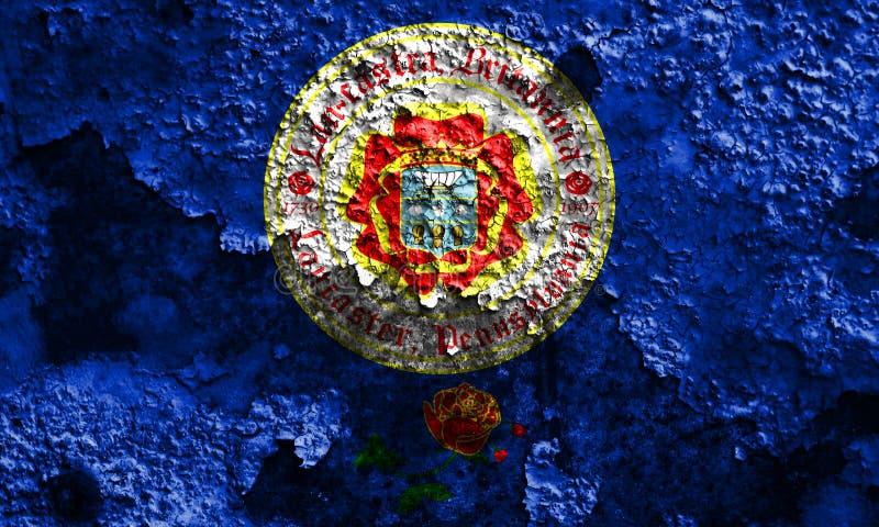 Флаг задымления городов Ланкастера, положение Пенсильвании, Соединенные Штаты  стоковая фотография
