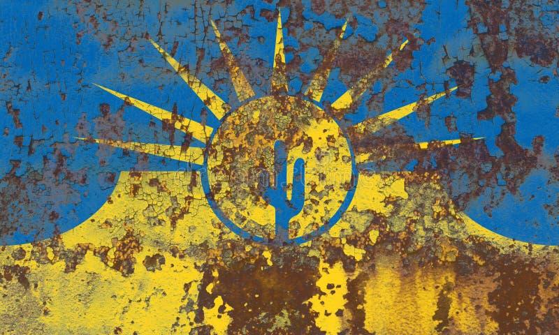 Флаг задымления городов мезы, положение Аризоны, Соединенные Штаты Америки иллюстрация штока