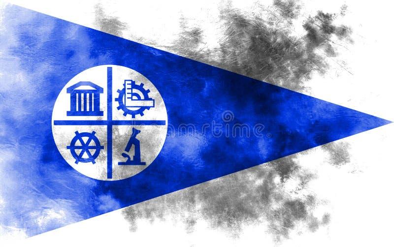 Флаг задымления городов Миннеаполиса, положение Минесоты, Соединенные Штаты a иллюстрация штока