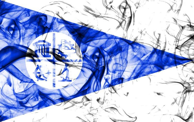 Флаг задымления городов Миннеаполиса, положение Минесоты, Соединенные Штаты Америки иллюстрация вектора