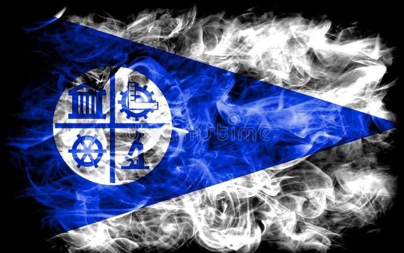 Флаг задымления городов Миннеаполиса, положение Минесоты, Соединенные Штаты a иллюстрация вектора