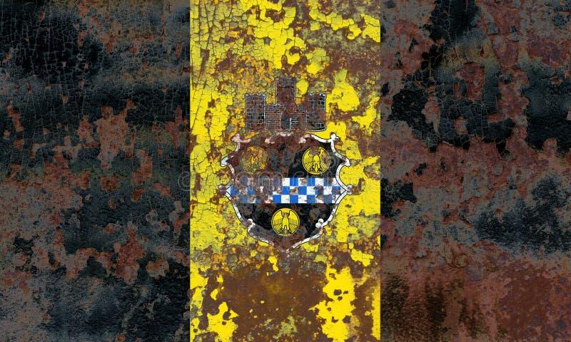 Флаг задымления городов Питтсбурга, положение Пенсильвании, Соединенные Штаты  стоковая фотография