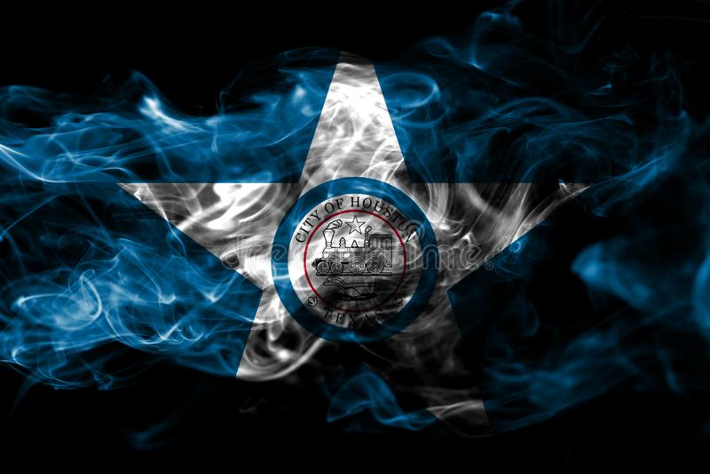 Флаг задымления городов Хьюстона, положение Техаса, Соединенные Штаты Америки иллюстрация вектора