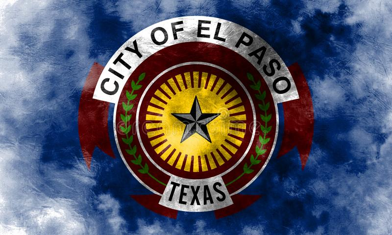 Флаг задымления городов Эль-Пасо, положение Техаса, Соединенные Штаты Америки бесплатная иллюстрация
